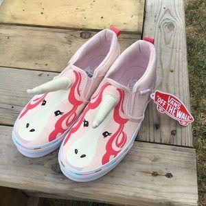 Girls Vans Asher Unicorn Slip On Sneakers Shoes